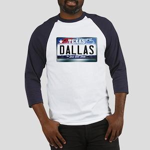 Texas License Plate [DALLAS] Baseball Jersey